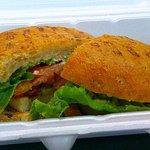 Swordfish Sandwich @ Buster's St.Lawrence Market. Copyright 2017 J Mark Robinson