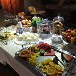 The fruit & pastries table at the Appia's breakfast buffet