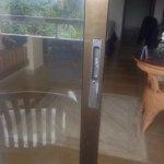 Theft via this door on ground floor suite.
