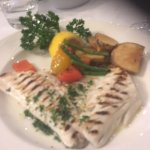 grilled sea bass and roasted vegatables