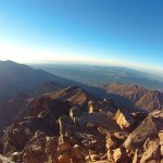 Sunrise from the Toubkal summit 4167, the highest in North Africa