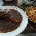 Lamb shank and veg rice