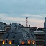 view of the eifel tower from our balcony