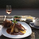 awesome roast dinner which I ate outside on a warm evening