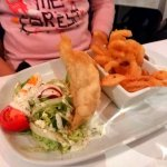 fish and chips from children's menu