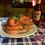 Juicy pink prawns and a cold 2M await!