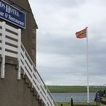 The Sands, Orkney flag and loch