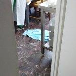 Hundedecke in der Küche (Hund war gerade rausgelaufen)