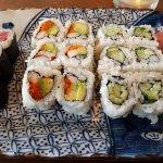 Dinner combo: tuna, California, cucumber