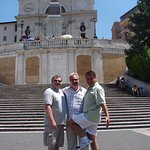 Chuck and our friends on the Spanish Steps