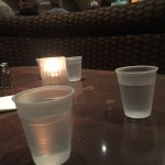 water served in plastic cups