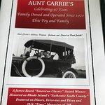 Foto de Aunt Carrie's Restaurant