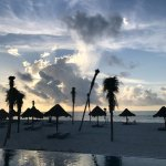 View from our beach front suite at sunrise.