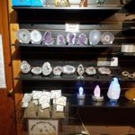 Geodes, gold and amethyst in the shop