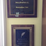 While we were there new awards for the Kennebec Inn were added to the decor