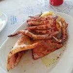 Delicious grilled calamari
