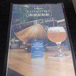 June 2017: De Kazematten Brasserie advertising St.Bernardus local monks beers