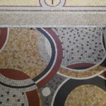 mosaic floor at the reception area