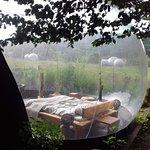 Vue extérieur arrière de la grande bulle - Petites bulles visible au loin