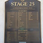 Each stage has a plaque to show what's been filmed there.