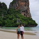 We are a happy couple as we made it to Railay!