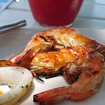 grilled tiger prawn and squid