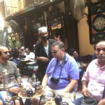 Khan El-Khalili market (over 600 years old). This coffee shop is over 240 years old!