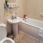 Small but clean bathroom.
