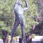 The Discus Thrower - Athens across from the stadium of the first modern Olympic games