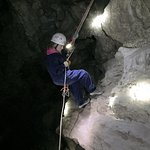 Repelling down into the cave - awesome experience!!!