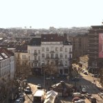 View from the roof: Brussels, place Jourdan and Bottazzi's monumental painting