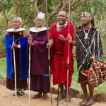 Maasai entertainers at the lodge