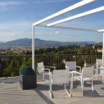 Rooftop terrace - view of Florence