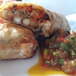Moroccan spiced chickpea Wellington with coriander relish