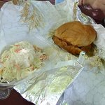 BBQ Sandwich and Side Cole Slaw