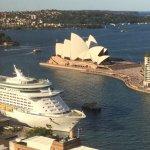 Sydney Opera House from the Shangri-La Hotel.
