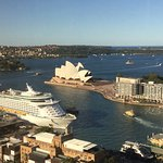The view of Sydney Harbour from the Shangri-La Hotel.