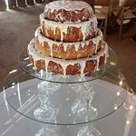 """Our first wedding """"cake"""" made with Old West Cinnamon Rolls! (Special order)"""