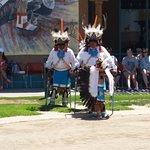 Deer dancers with eagle dancer