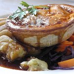Lovely pie and mash.