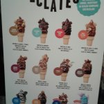 There is a great variety of different ice creams available