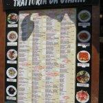 menu with prices