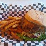 Carolina Cheddar Burger w/ fries