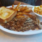 NC Style BBQ Plate w/: Fries and Mac and Cheese **Asked for Eastern based sauce