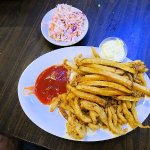 fried clams under all those fries
