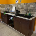 New shared kitchen sinks