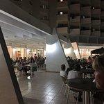 Outside evening entertainment area
