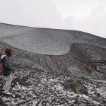 Cráter con granizo