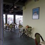 outdoor covered patio at Alonzo's Oyster Bar