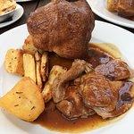 Lovely roast lamb dinner